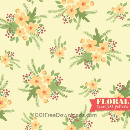 Free Floral seamless pattern