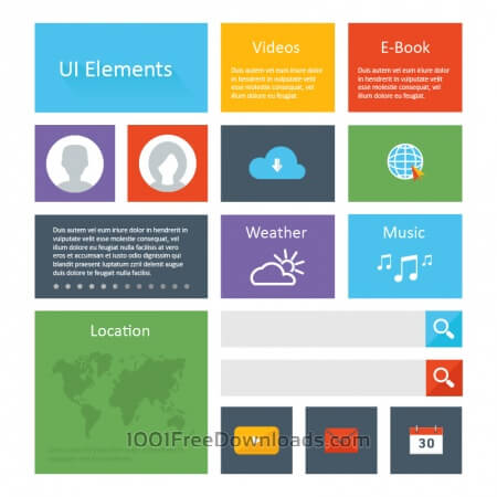 Free Flat Ui Elements Design