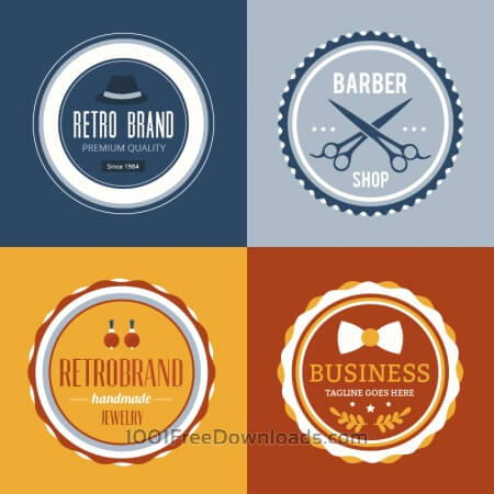Free Retro Vintage Insignias or Logotypes set.