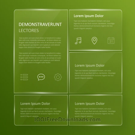 Free Transparent, glassy user interface
