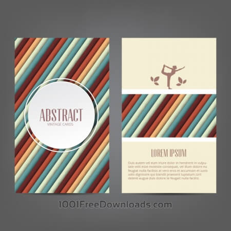 Free Abstract yoga card