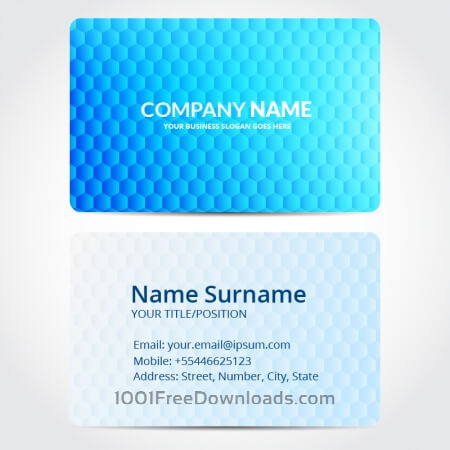 Free Hexagon business card design