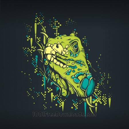 Retro lizard