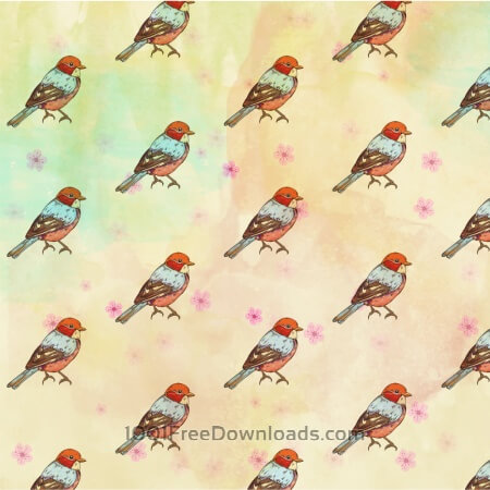 Free Pattern with retro bird