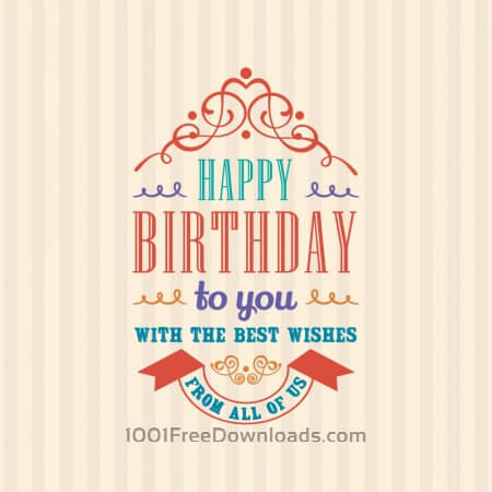 Free Happy Birthday Invitation