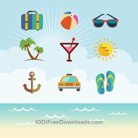 Free Travel Vector Icon set