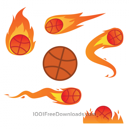 Free Basketball On Fire