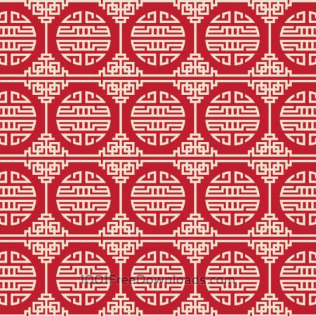 Free Asian Red, and White Pattern