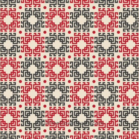 Free Asian Red, White, and Black Pattern