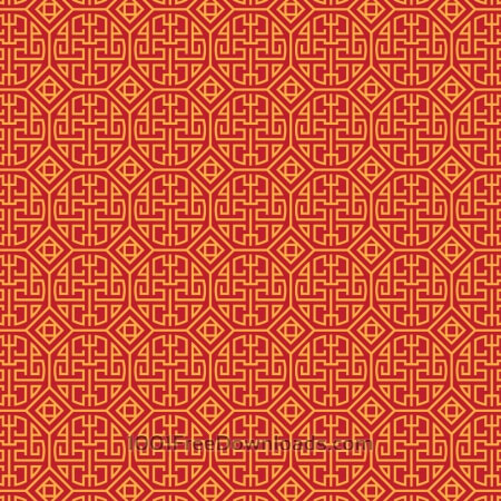 Free Asian Yellow and Red Pattern