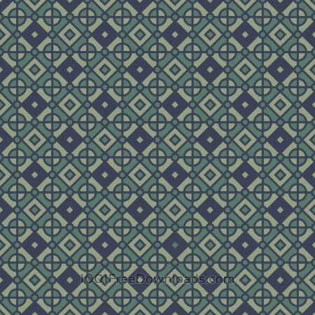 Free Vintage Geometric Blue and Green Pattern