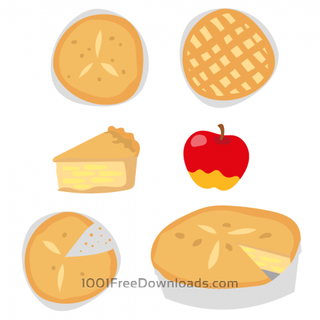 Free Delicious Apple Pie Vectors