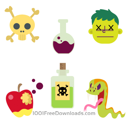 Free Cartoon Poison Vector Set
