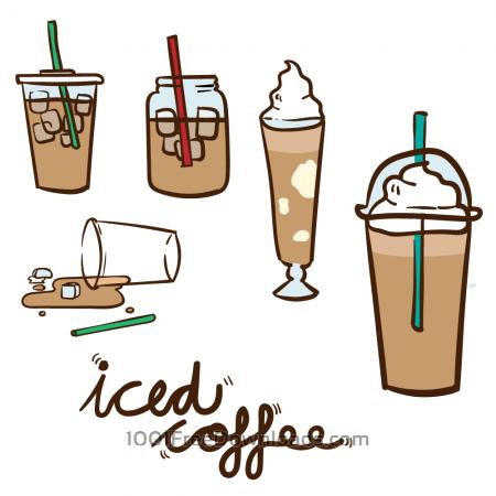 Free Iced Coffee Vector