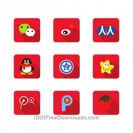 Free Chinese Social Media Icons