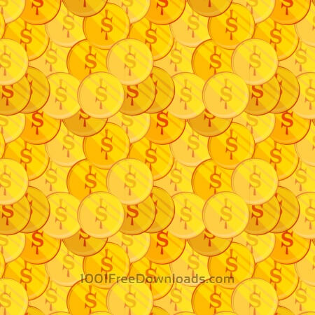 Free Money illustration with coins