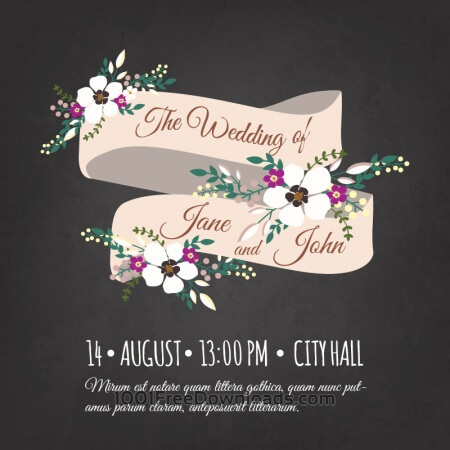 Free Wedding invitation card