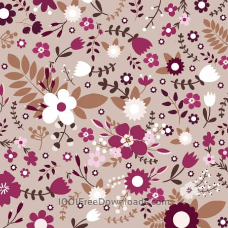 Free Retro floral seamless pattern