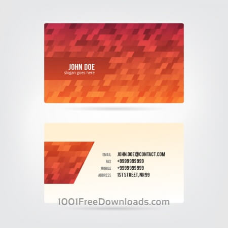 Free Modern Abstract Business Card