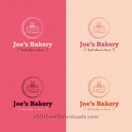 Free Bakery cake logo design