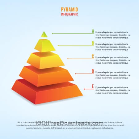 Free 3d piramid infographic