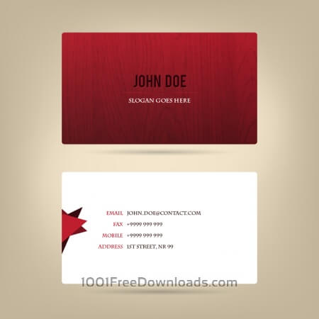 Free Abstract business card, wood texture