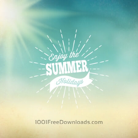 Free Retro summer illustration