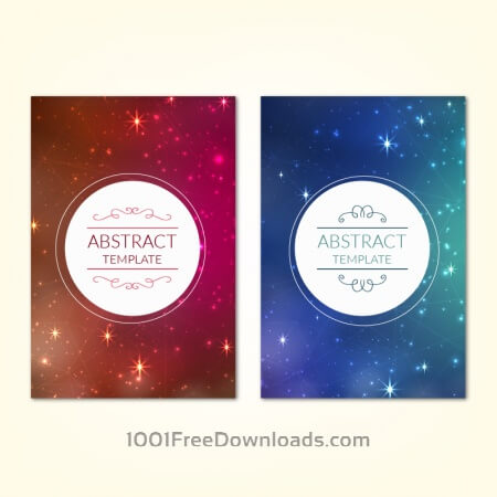 Free Posters template with universe starry sky background