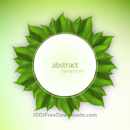 Fresh green leaves label