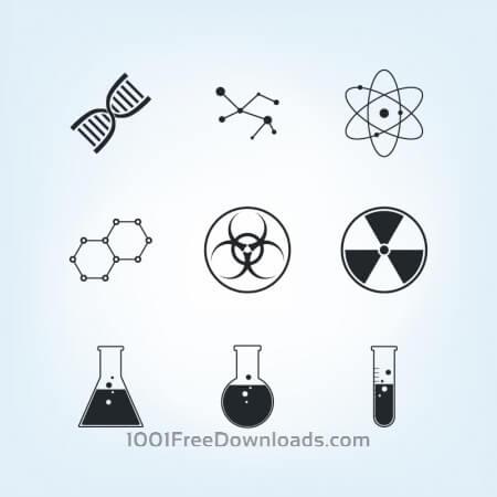 Free Chemistry Icons Set