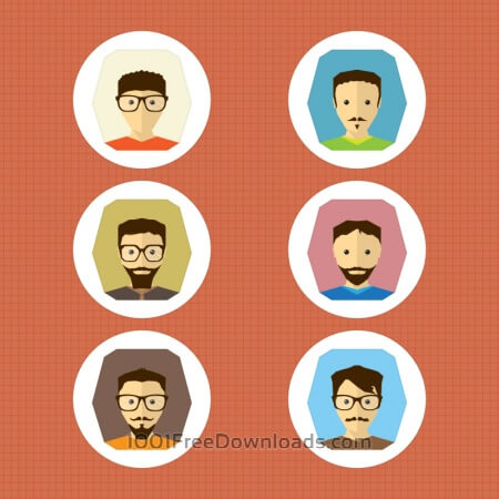 Free 6 Vector Characters