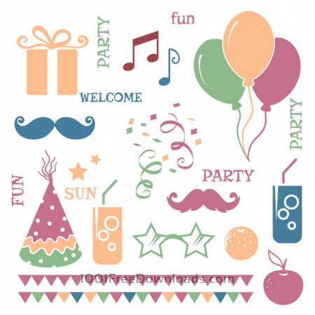 Free Celebration vector elements