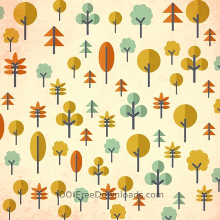 Free Seamless pattern with trees