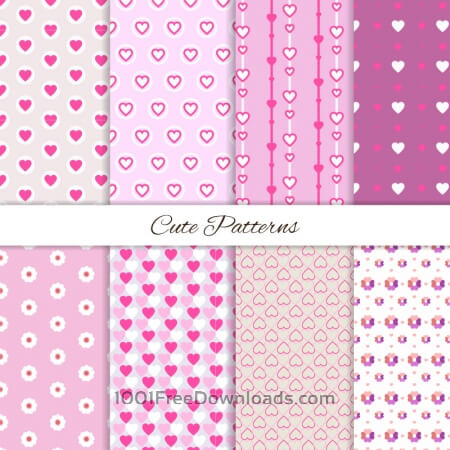 Free Set of seamless love patterns
