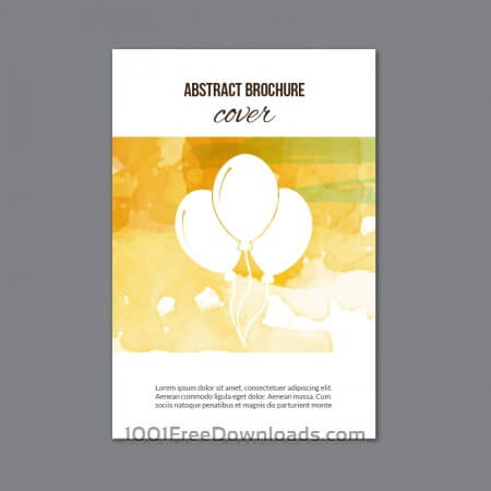 Free Watercolor  brochure