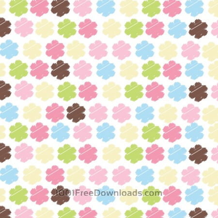 Free Seamless pattern with flowers