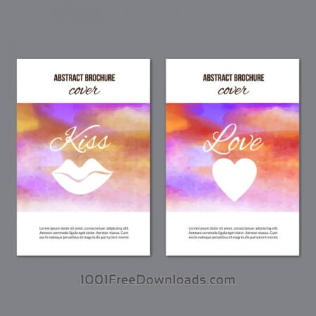 Free Watercolor  brochures
