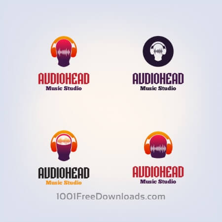Free DJ vector logo design template