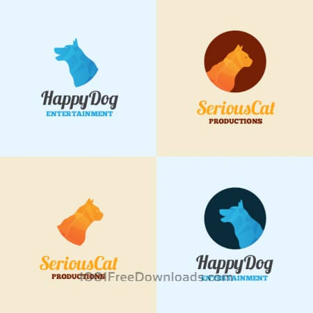 Free Dog and cat logo template
