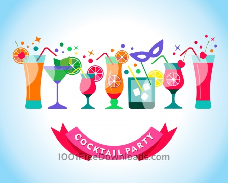 Free Cocktail party illustration