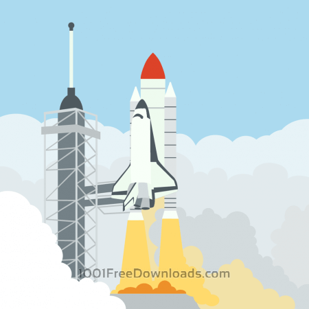 Free launching space shuttle