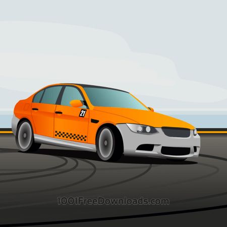 Free racing car