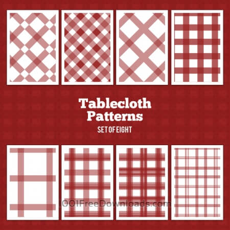 Free Tablecloth Vector Patterns
