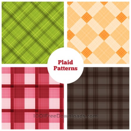 Plaid Vector Patterns