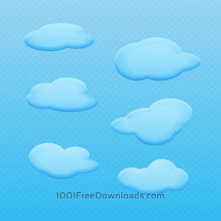 Free Vector Cartoon Clouds