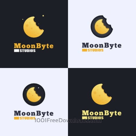 Free Moon Byte Logo Design