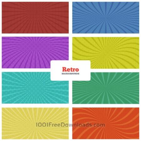 Free Retro Backgrounds Set