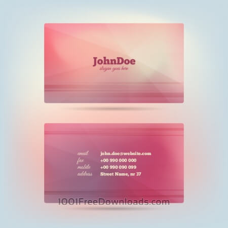 Free Vector Glow Business Card