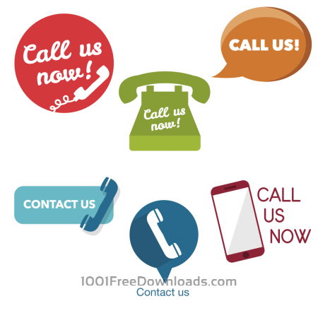 Free Call Us Now buttons and icons