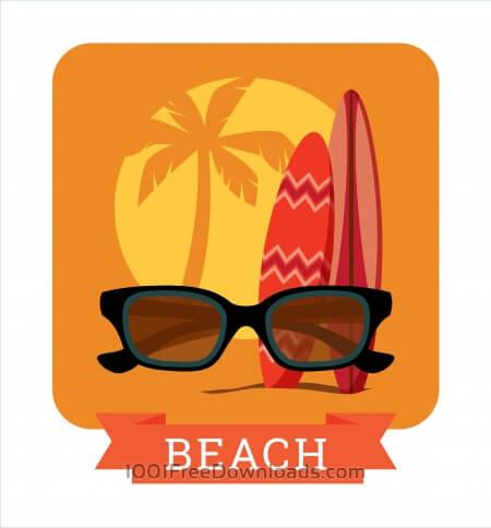 Free Summer illustration.